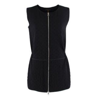 Louis Vuitton Black Monogram Zip Front Mini Dress