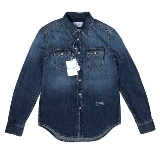 Givenchy Blue Denim Men's Shirt