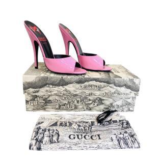 Pink Pink Polished Regent Mules