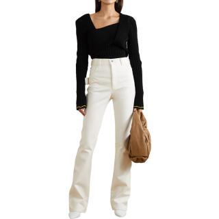 Bottega Veneta White High Waist Jeans