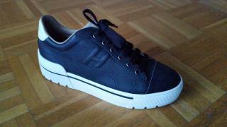 Hermes Black Epsom Leather Voltage Sneakers