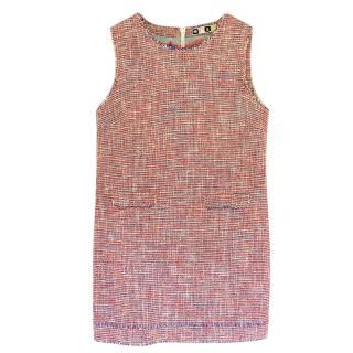 MSGM Sleeveless Tweed Shift Dress