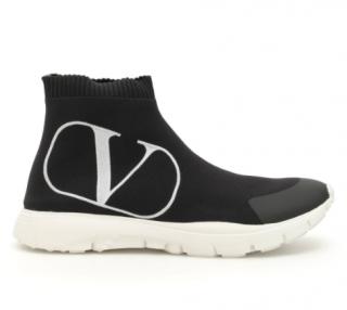 Valentino Black VLogo Sock Sneakers