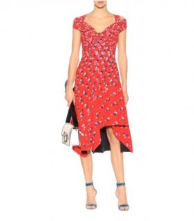 Peter Pilotto Red Printed Sweetheart Dress