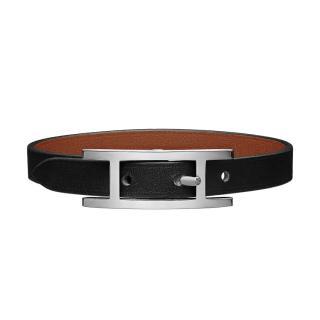 Hermes Black Swift/Epsom Behapi Bracelet PHW