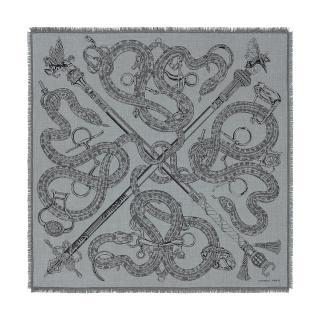 Hermes Cashmere & Silk Caducee Roc Scarf 100