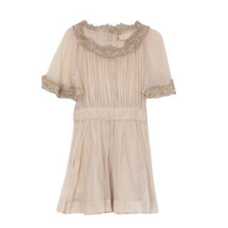 Isabel Marant Beige Embroidered Dress