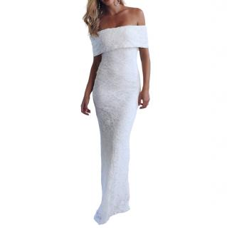 Grace Loves Lace White Lace Off Shoulder Hadley Bridal Gown