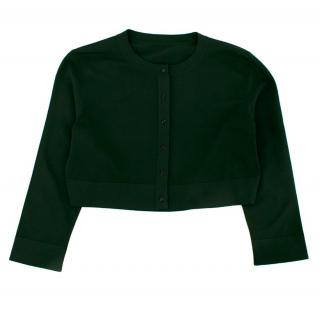 Alaia Dark Green Knit Cropped Cardigan