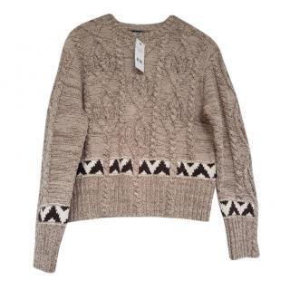 Polo Ralph lauren Cable Knit Intarsia Jumper