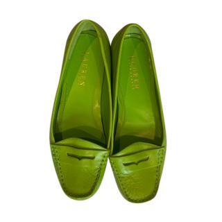 Lauren Ralph Lauren Green Leather Loafers
