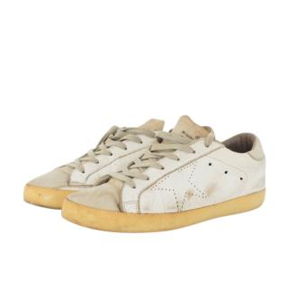 Golden Goose Superstar White Leather/Suede Sneakers