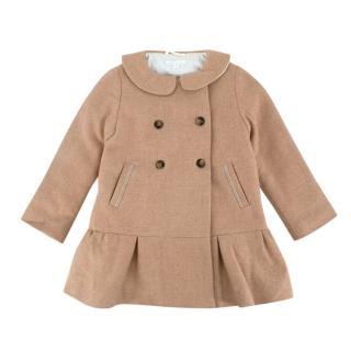 Marie Chantal Kid's Camel Wool Coat