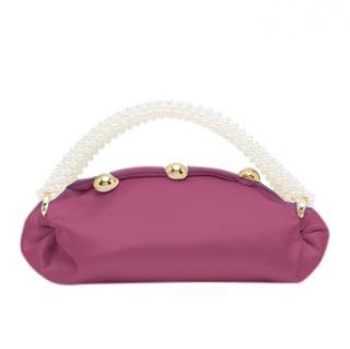 0711 Tbilisi Burgundy Embellished Pearl Nino Bag
