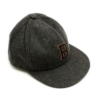 Bonpoint Grey Wool-blend B Patch Cap