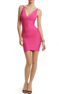 Herve Leger Fuchsia Lauren Bandage Mini Dress