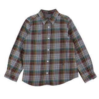 Bonpoint Kids 6Y Checked Boys Shirt