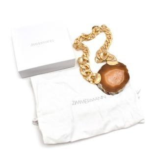 Zimmermann Gold Tone Agate Necklace