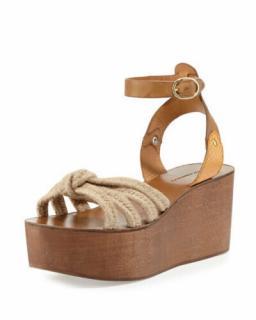 Isabel Marant Etoile Platform Jute Wedge Sandals