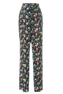 Emilio Pucci Black Tobias Printed Silk Crepe Trousers