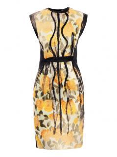Lanvin Yellow Printed Sleeveless Dress