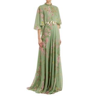 Giambattista Valli Green Embroidered Garden Gown