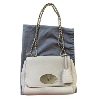 Mulberry Cream Pebbled Leather Lily Shoulder Bag