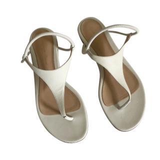 Gianvito Rossi White Strappy Flat Sandals