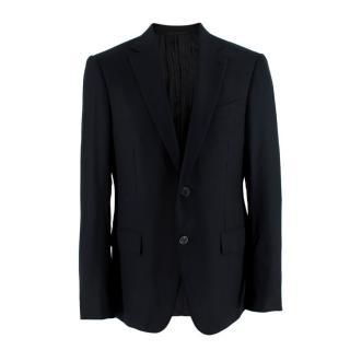 Ermenegildo Zegna Navy Wool Single Breasted Blazer