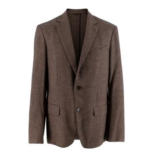 Ermenegildo Zegna Wool Blend Brown Single Breasted Blazer