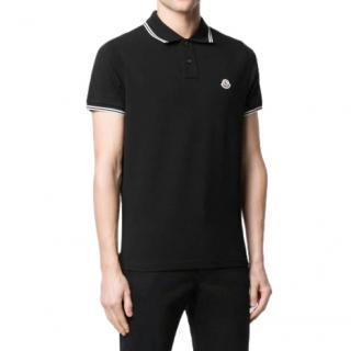 Moncler Black Maglia Polo Shirt