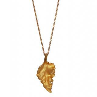 Bespoke Yellow Gold Leaf Pendant Necklace