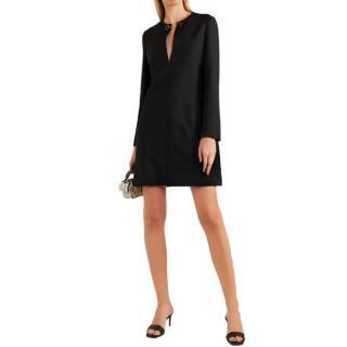 Stella McCartney Chain Detail Black Wool Dress