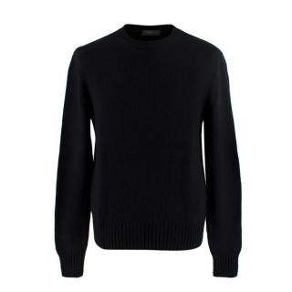 Prada Black Cashmere Crew Neck Sweater