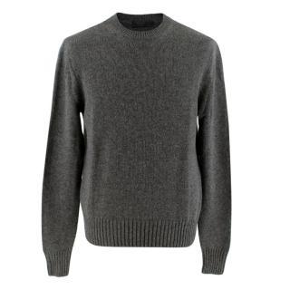 Prada Dark Grey Cashmere Crew Neck Sweater