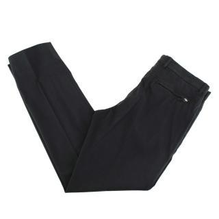 Ermenegildo Zegna Dark Grey Cotton Blend Trousers
