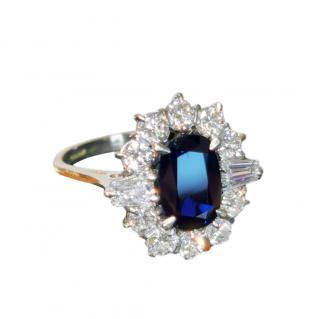 Bespoke White & Yellow Gold Sapphire & Diamond Ring