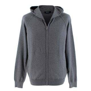 Ermenegildo Zegna Sport Zip Up Grey Hoodie