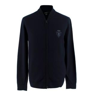 Gucci Navy Wool Zip Up Cardigan