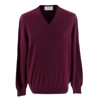 Ermenegildo Zegna Purple V Neck Sweater