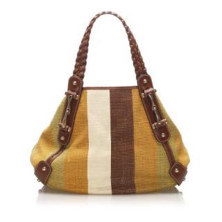 Gucci Pelham Striped Canvas Shoulder Bag