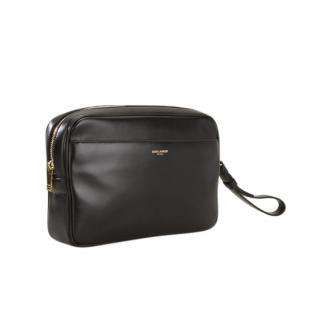 Saint Laurent Black Calfskin Cosmetic Case