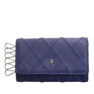 Chanel Wild Stitch CC Leather Key Holder