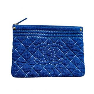 Chanel Denim Quilted O Case