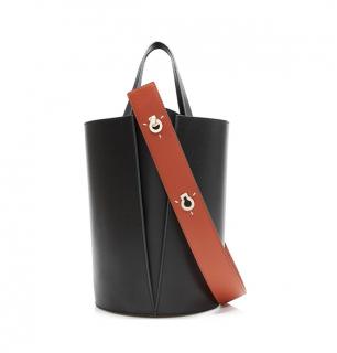 Danse Lente Black Mini Lorna Calfskin Bag