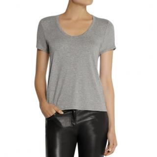 The Row Grey Stretch Jersey T-Shirt