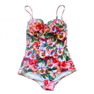 Dolce & Gabbana Tropical Floral Balconette Swimsuit