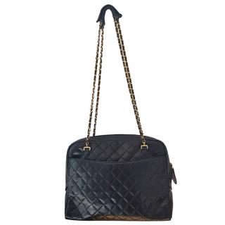 Chanel Vintage Quilted Leather XL Camera Bag