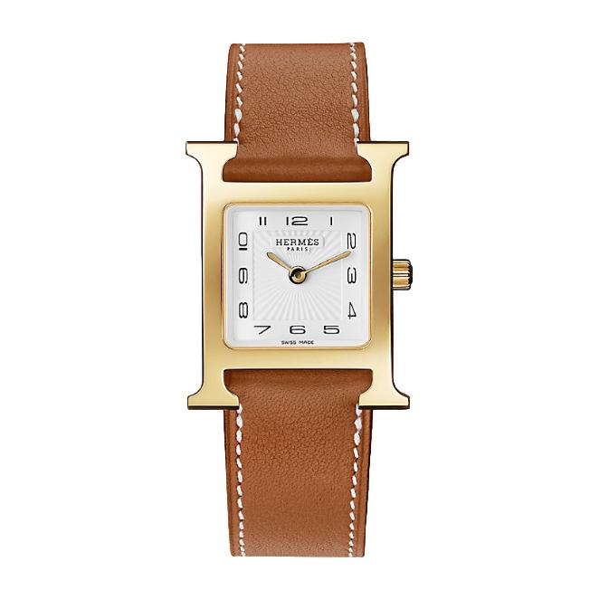 Hermes Heure H watch, 26 x 26 mm GHW