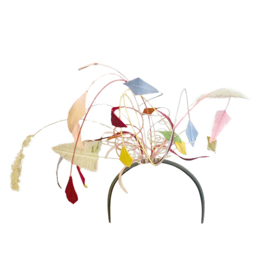 Bespoke Feathered Multicoloured Fascinator